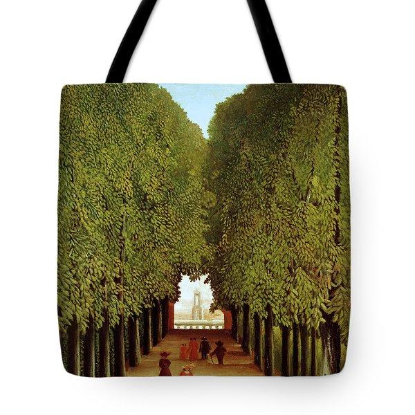 Alleyway In The Park Tote Bag