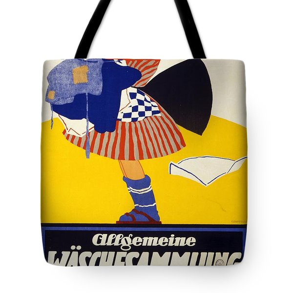 Allgemeine Waschesammlung 1917 - Vintage Clothing Advertising Poster Tote Bag