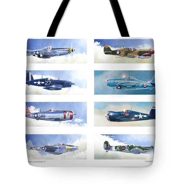 Allied Fighters Of The Second World War Tote Bag