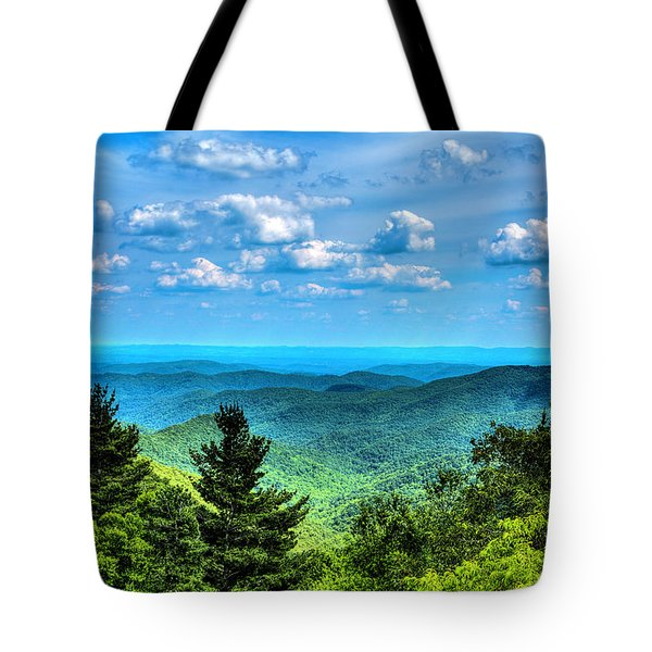 Alligator Back Overlook Tote Bag by Dale R Carlson