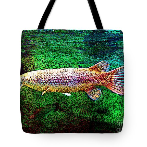 Alligator Gar Fish  Tote Bag by Merton Allen