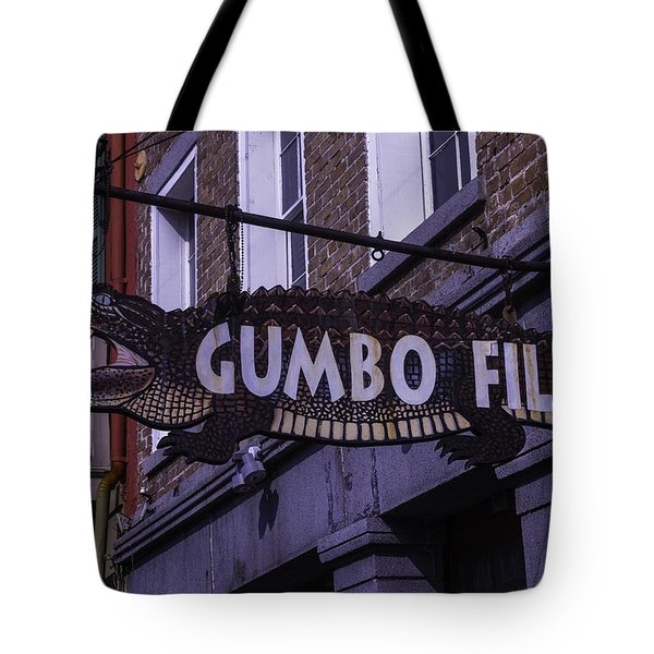 Alligator Sign Tote Bag by Garry Gay