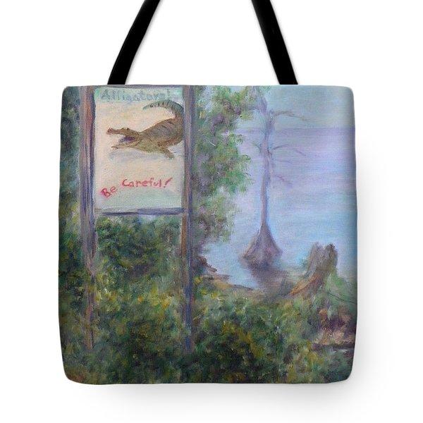 Alligators   Be Careful Tote Bag