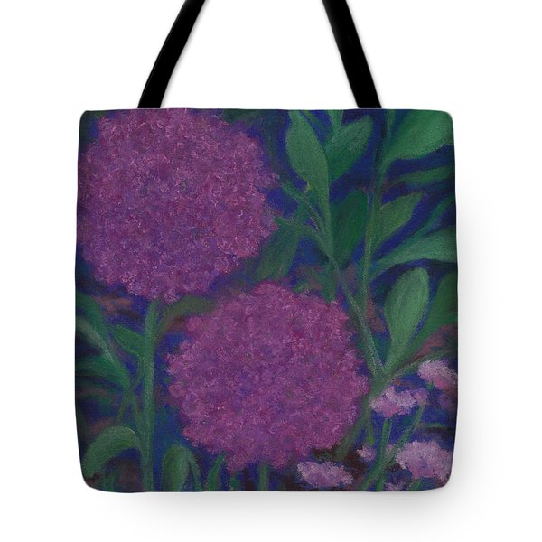 Allium And Geranium Tote Bag