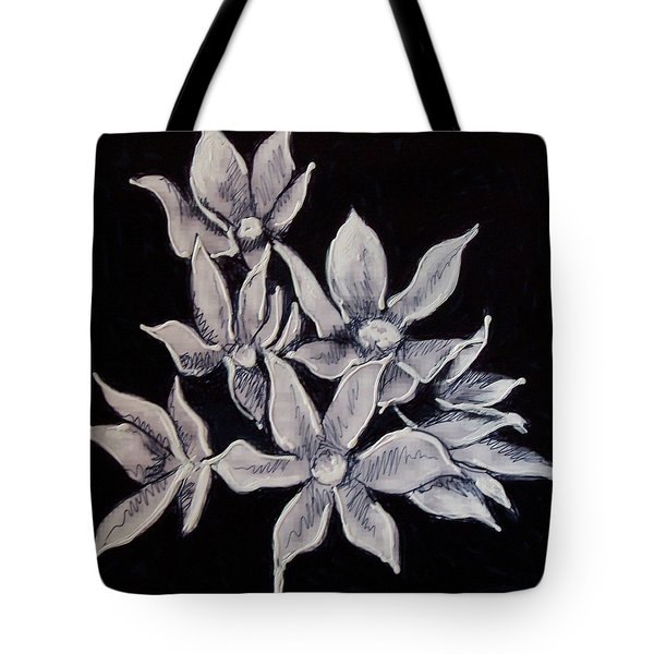 Tote Bag featuring the painting Allium Moly by Kym Nicolas
