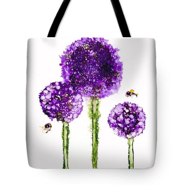 Alliums Humming Tote Bag