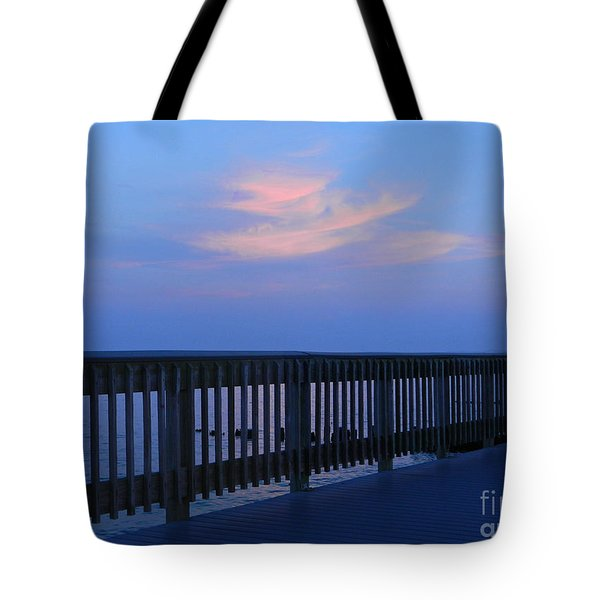 Alls Quiet On The Beach Front Tote Bag