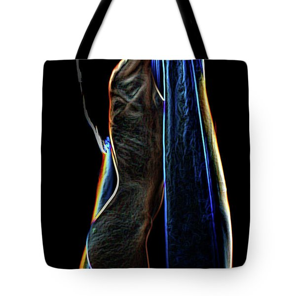 Tote Bag featuring the painting Allure Ll by Tbone Oliver
