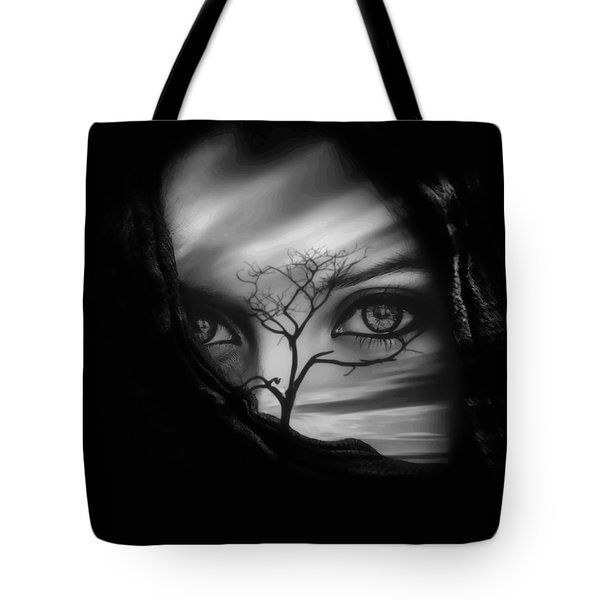 Allure Of Arabia Black Tote Bag by ISAW Gallery