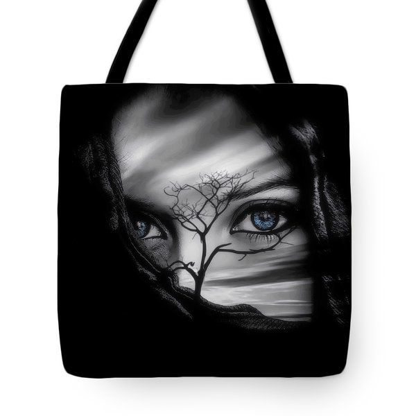 Allure Of Arabia Blue Tote Bag by ISAW Gallery