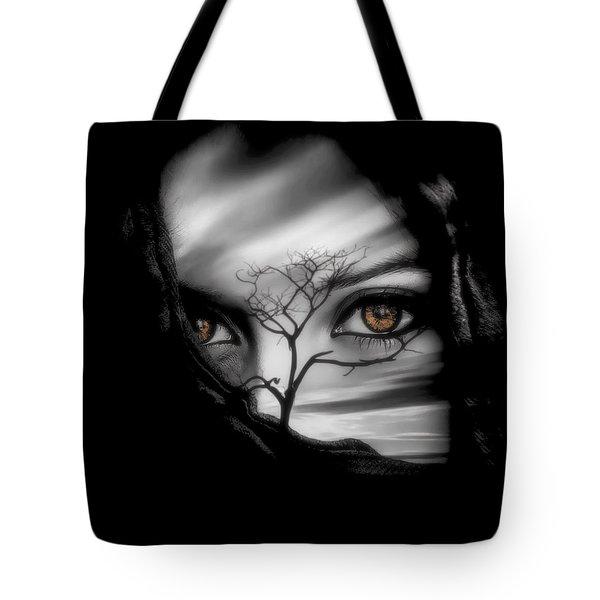 Allure Of Arabia Brown Tote Bag
