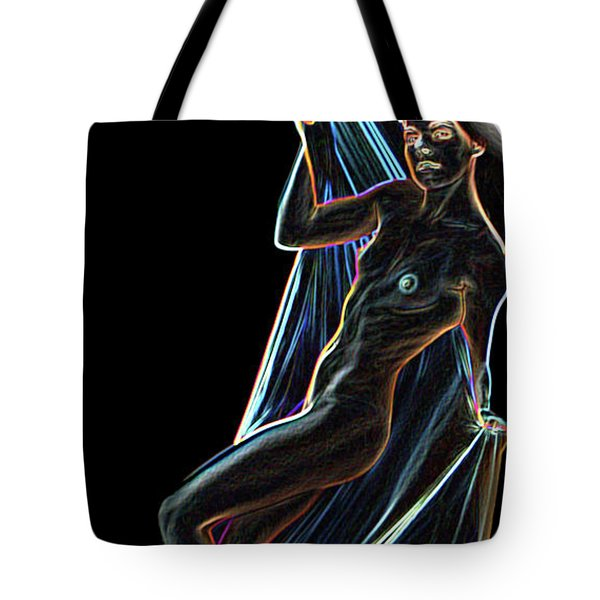 Tote Bag featuring the painting Allure by Tbone Oliver