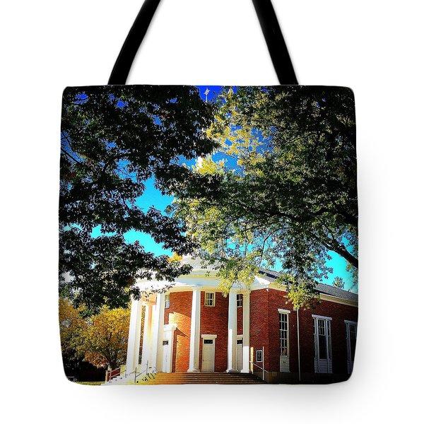 Alma College Dunning Memorial Chapel Tote Bag