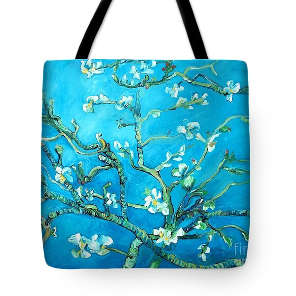 Almond Blossom Tote Bag by Eric  Schiabor