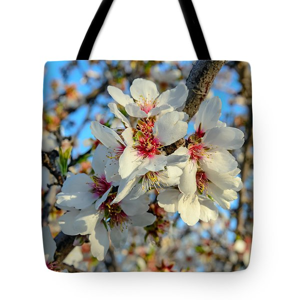 Almond Blossoms Tote Bag