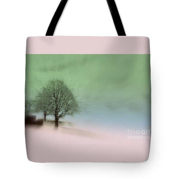 Tote Bag featuring the photograph Almost A Dream - Winter In Switzerland by Susanne Van Hulst