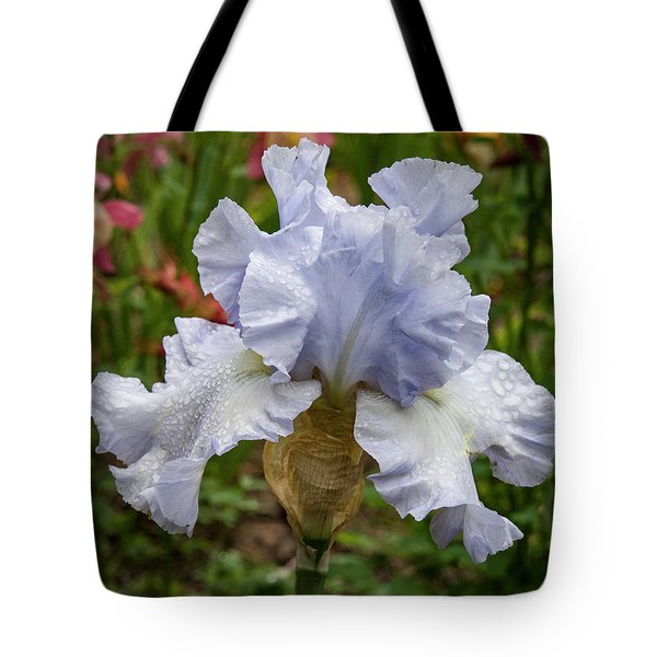 Tote Bag featuring the photograph Almost Blue Bearded Iris by Jean Noren