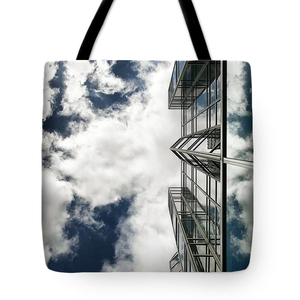 Urban Cloudscape Tote Bag