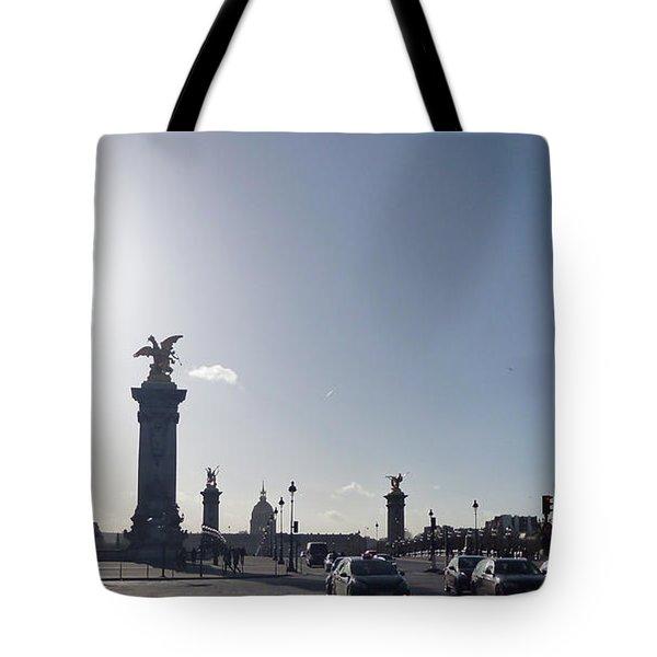 Almost Night In Paris Tote Bag
