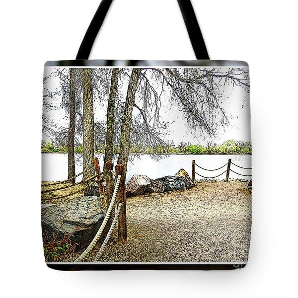 Almost Spring At Lafayette Lake Tote Bag