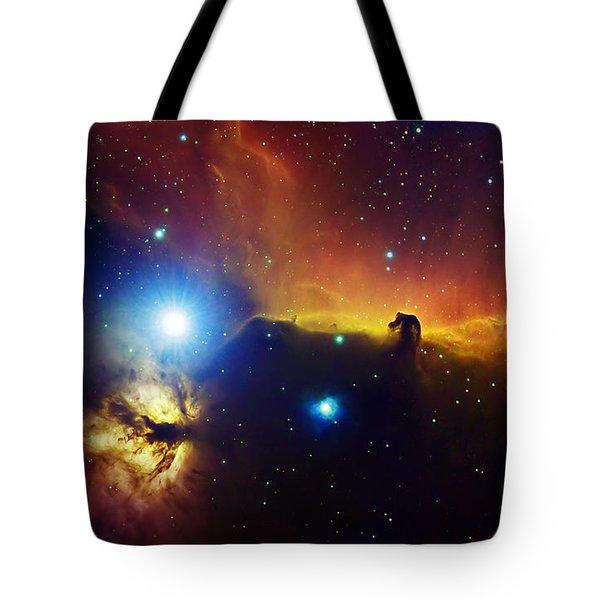 Alnitak Region In Orion Flame Nebula Tote Bag by Filipe Alves