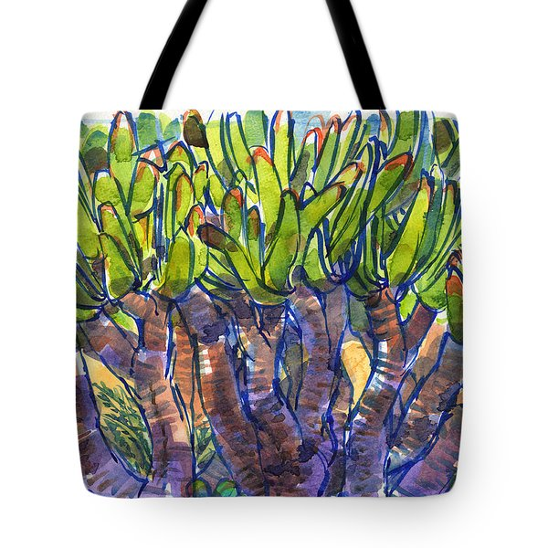 Fan Aloe Tote Bag
