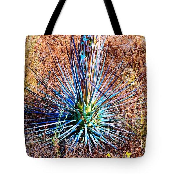 Aloe Vera In Meadow Tote Bag by Mariola Bitner
