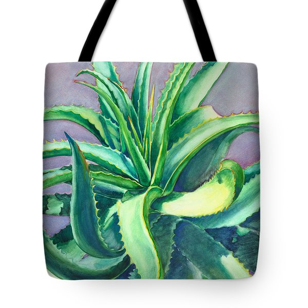 Aloe Vera Watercolor Tote Bag
