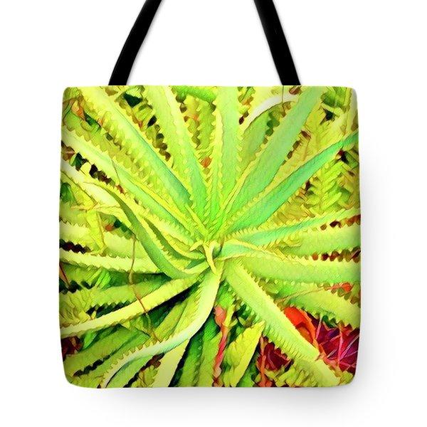 Aloha Aloe In Puna In Lime Tote Bag