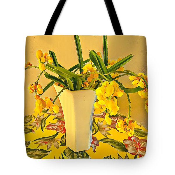 Aloha Bouquet Of The Day - Yellow Wild Flowers Tote Bag