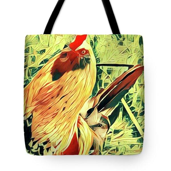 Aloha Doodle Doo Tote Bag