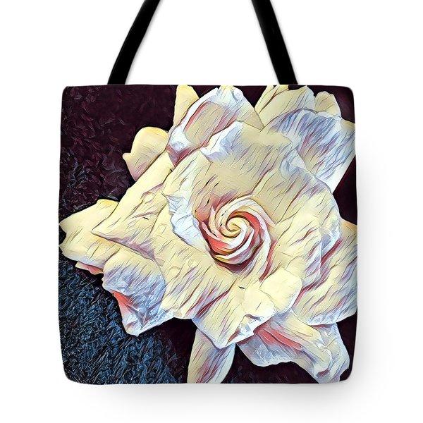 Aloha Gardenia In Rainbow Tote Bag