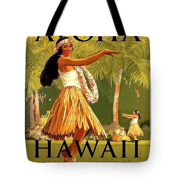 Aloha Hawaii, Hula Girl Dance Tote Bag