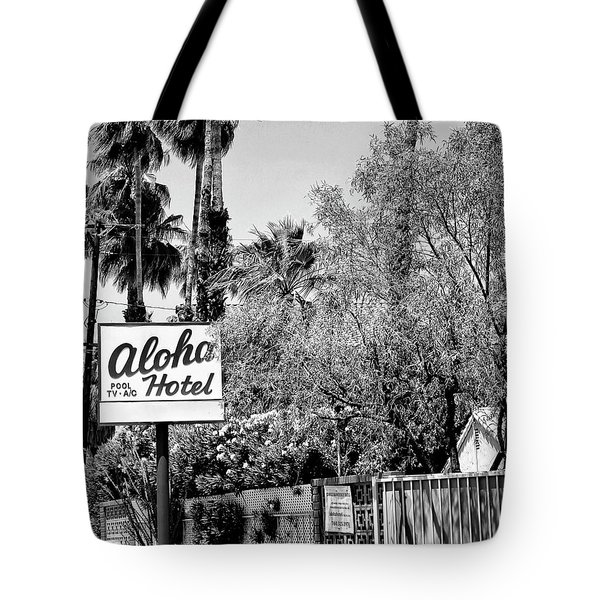 Aloha Hotel Bw Palm Springs Tote Bag by William Dey