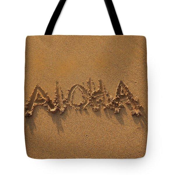 Aloha In The Sand Tote Bag