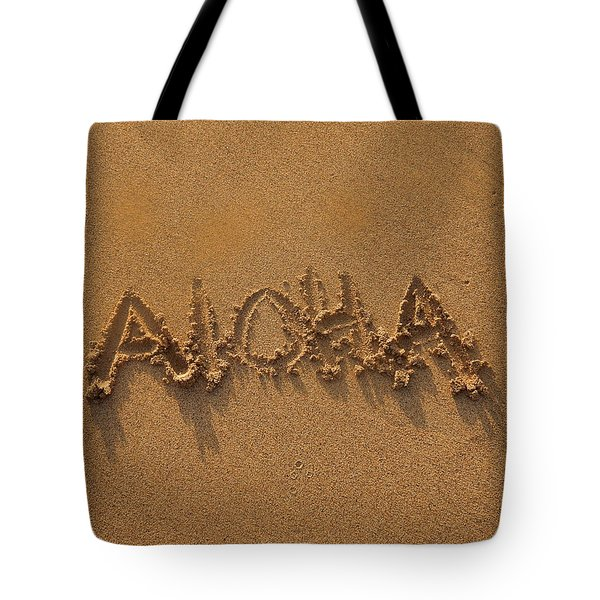 Aloha In The Sand Tote Bag