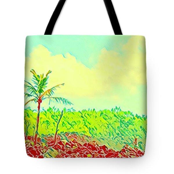 Aloha Lava Aina Hawaii Sky Tote Bag