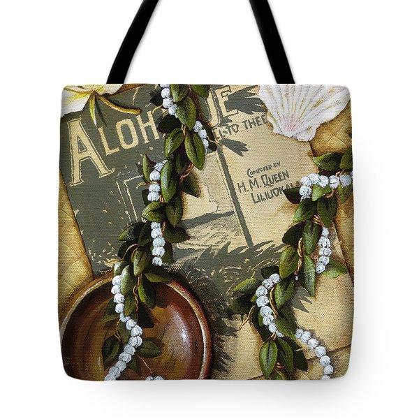 Aloha Oe Tote Bag by Sandra Blazel - Printscapes