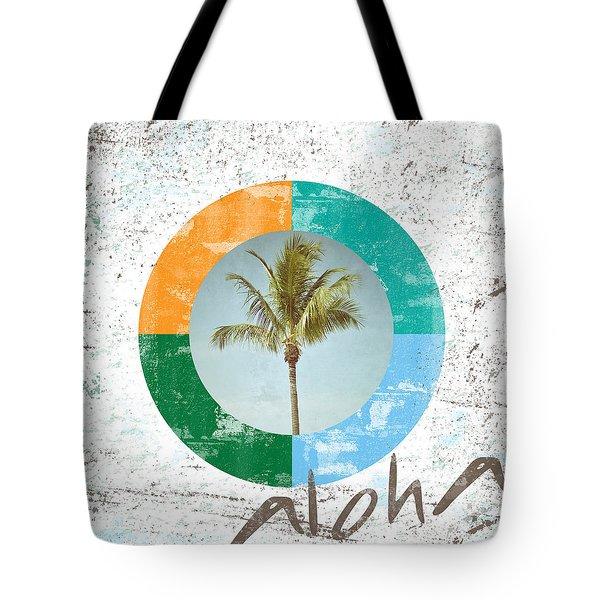 Aloha Palm Tree Tote Bag