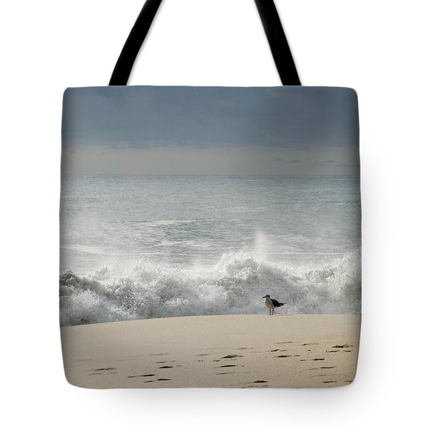 Alone - Jersey Shore Tote Bag by Angie Tirado