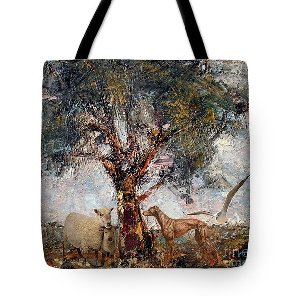 Alone Against Storms 5 Tote Bag