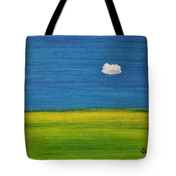 Tote Bag featuring the painting Alone And Fine by Judith Rhue