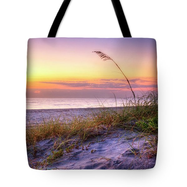 Tote Bag featuring the photograph Alone At Dawn by Debra and Dave Vanderlaan