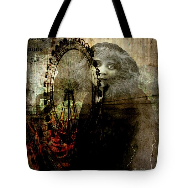 Tote Bag featuring the digital art Alone At The Fair by Delight Worthyn