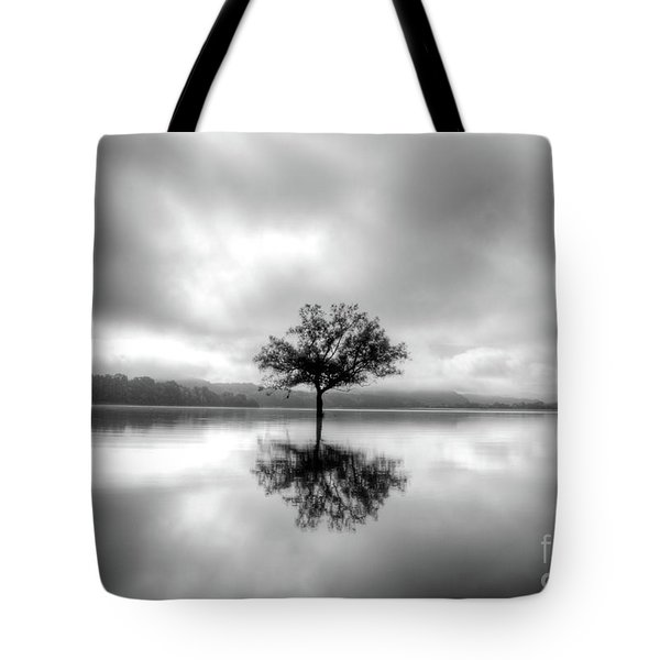 Tote Bag featuring the photograph Alone Bw by Douglas Stucky