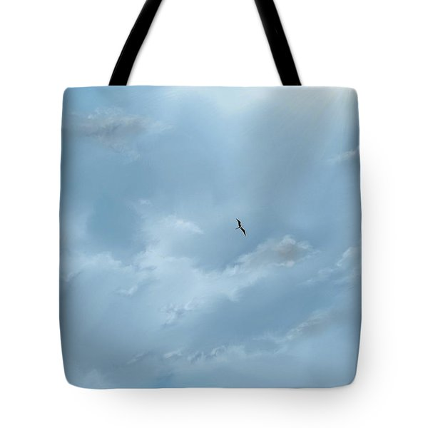 Tote Bag featuring the digital art Alone by Darren Cannell