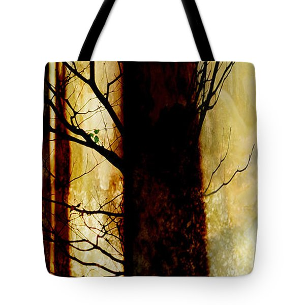 Tote Bag featuring the digital art Alone I Stand by Ken Walker