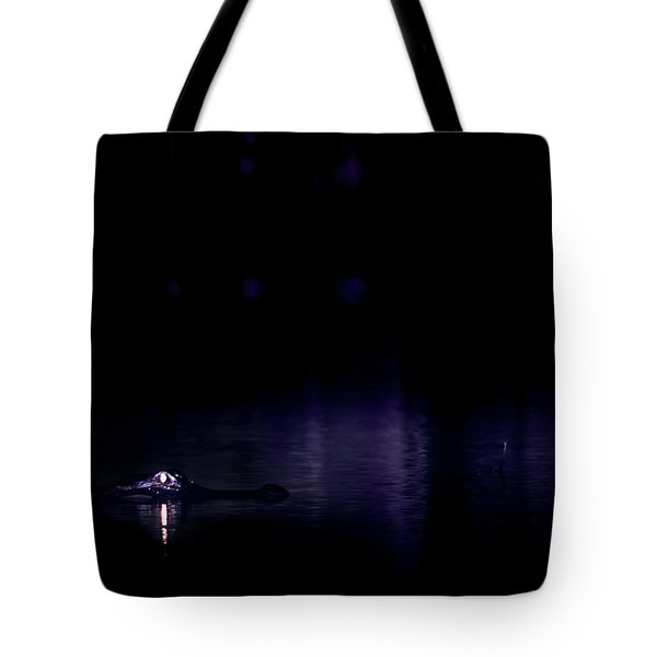 Tote Bag featuring the photograph Alone In The Dark by Mark Andrew Thomas