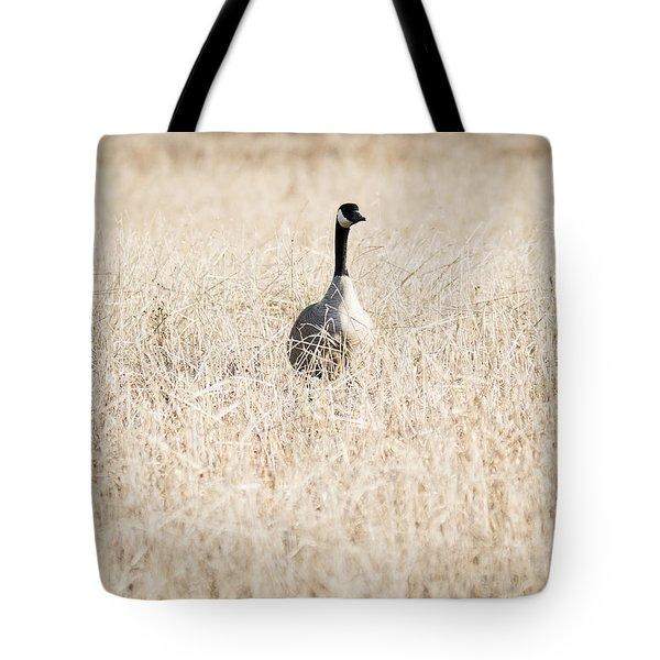 Alone In The Field Tote Bag