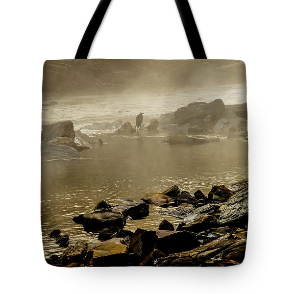Tote Bag featuring the photograph Alone In The Mist by Iris Greenwell